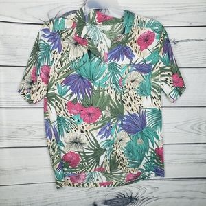 Alfred Dunner tropical print plus size top